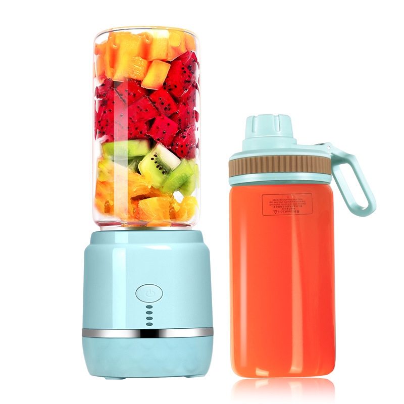 Portable Juice Blender USB Rechargeable Double Cup Vegetables Fruit Mixer Electric Smoothie Blender Smoothie Maker Blenders Sque image