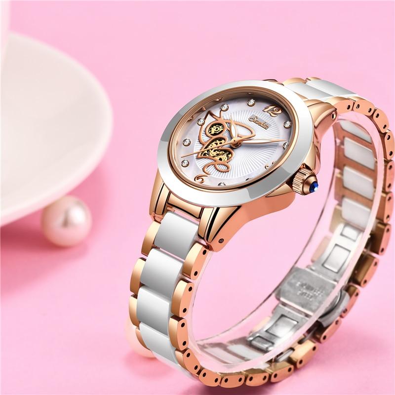 Image 4 - SUNKTA Simulation Quartz Women Watches Top Brand Luxury Simple Clock Women Girl Bracelet Diamond Watches Ladies Relogio Feminino-in Women's Watches from Watches