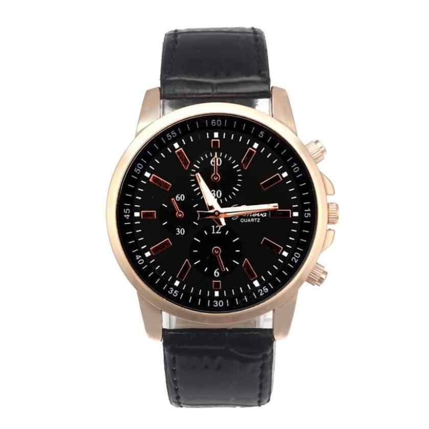 เจนีวาแฟชั่นLuxury Mensนาฬิกาธุรกิจนาฬิกาควอตซ์ชายนาฬิกาข้อมือนาฬิกาRelogio Masculino %
