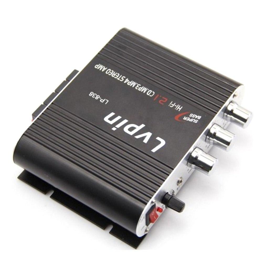 Lepy LP 838 Power Car Amplifier Hi Fi 2 1 MP3 Radio Audio Stereo Bass Speaker