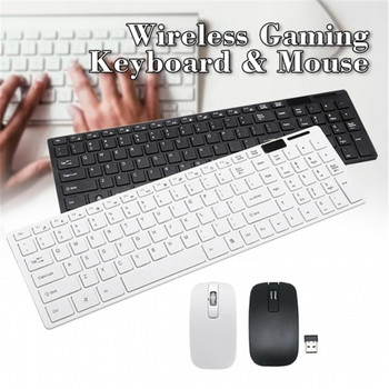Wireless Keyboard and Mouse Combo Ultra-Thin Business Low-Noise Ergonomic Keyboard Mouse Set for Mac Pc Win XP/7/10