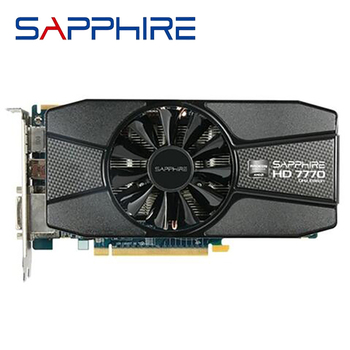 SAPPHIRE Radeon HD 7770 1GB Graphics Cards GPU For AMD HD7770 1G GDDR5 Video Cards PC Computer Gaming HDMI PCI-E X16 Used 1