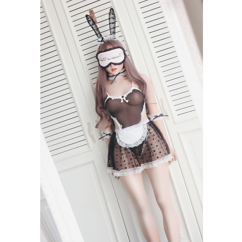 Ladies Cosplay Lace Costume Bunny Girl Suits Corduroy Sexy Cute Party Couple Roleplay Lingerie Bodysuit Kawaii Women Clubwear 1