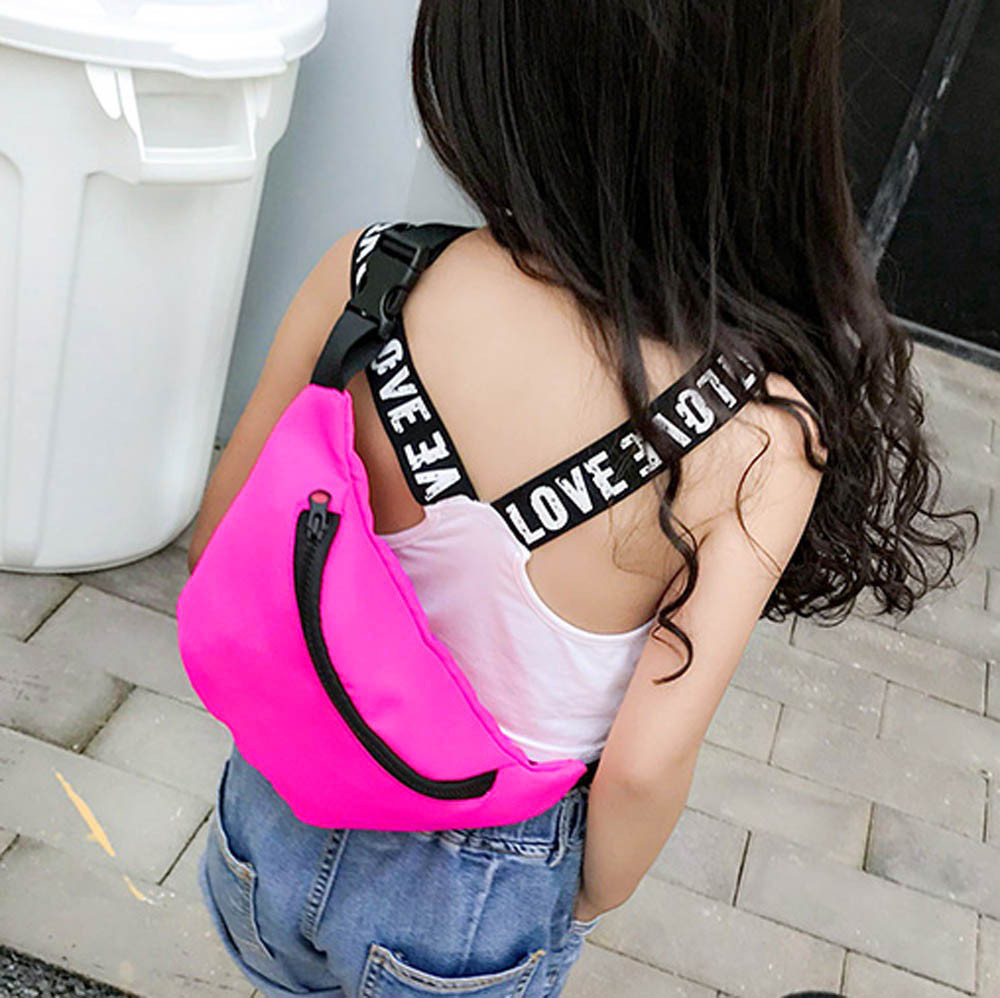 Fashion Children's Fanny Pack Bag Waist Bag Chest Bag Coin Purse Snack Pack Nylon Pouch поясная сумка 3 Color Gifts For Girls