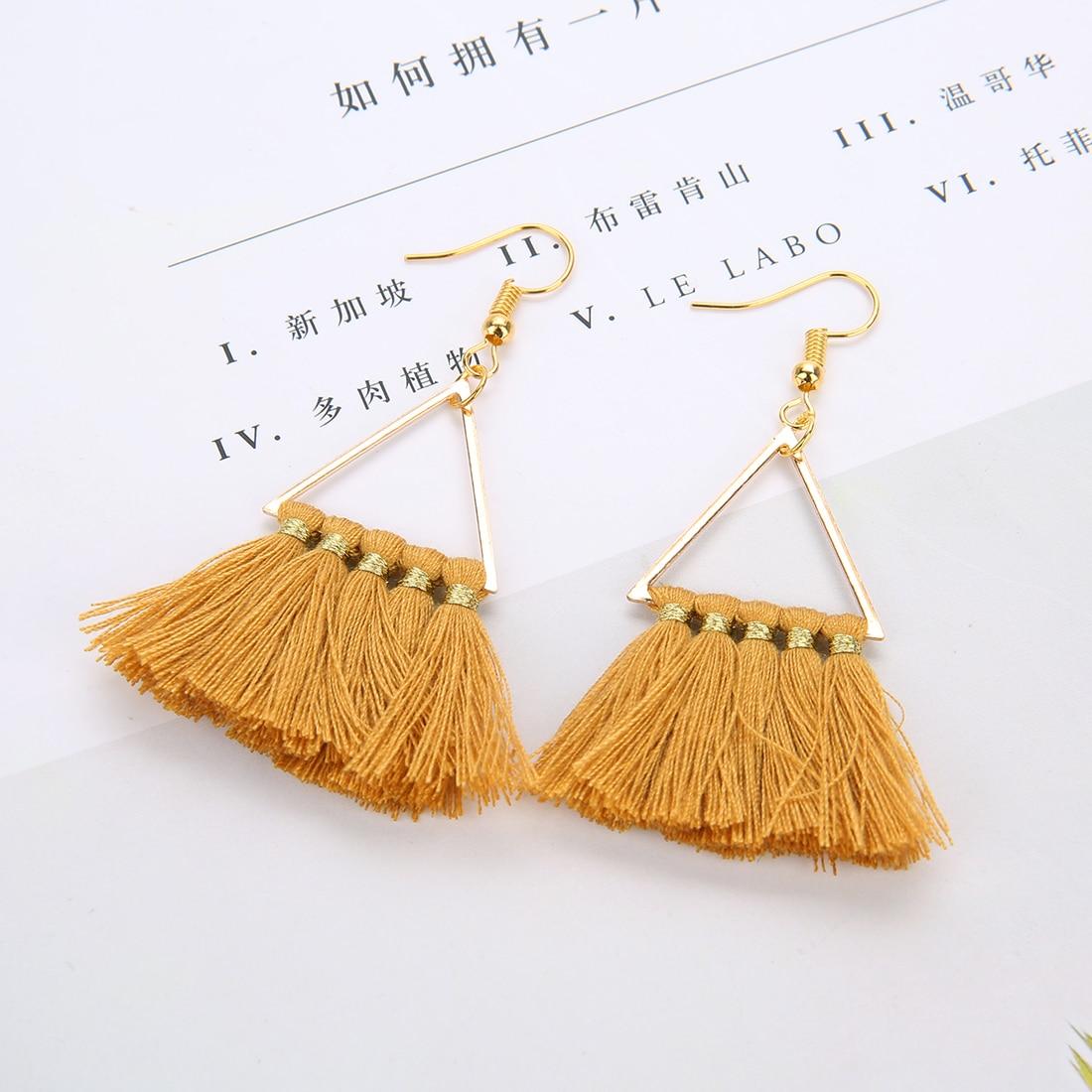 New 3 Layered Bohemian Fringed Luxury Statement Tassel Earrings 2020 Boho Fashion Jewelry Women Long Drop Dangle Earrings