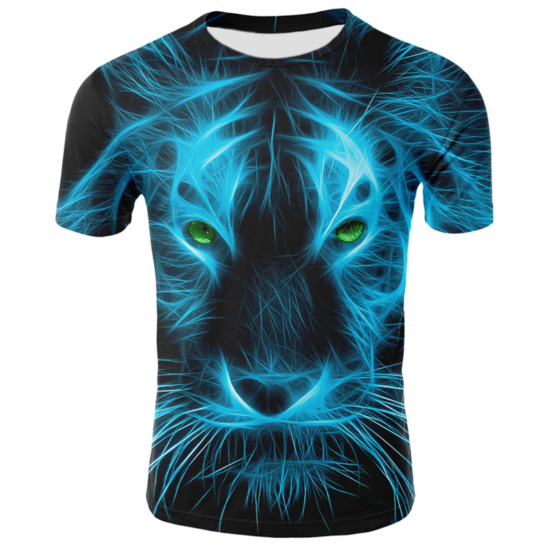 New Summer Animal Tshirt Men Women T Shirt Lion T-shirt Streetwear Hip Hop Top Tee Short Sleeve 3D Funny T Shirts 4XL
