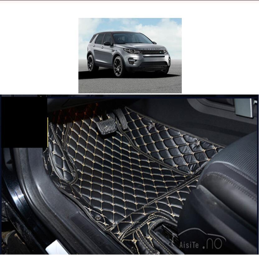 Tapis de sol de voiture en cuir | Pour land rover discovery sport, 2014 2015 2016 2017 2018 2019 2020, accessoires de moquette