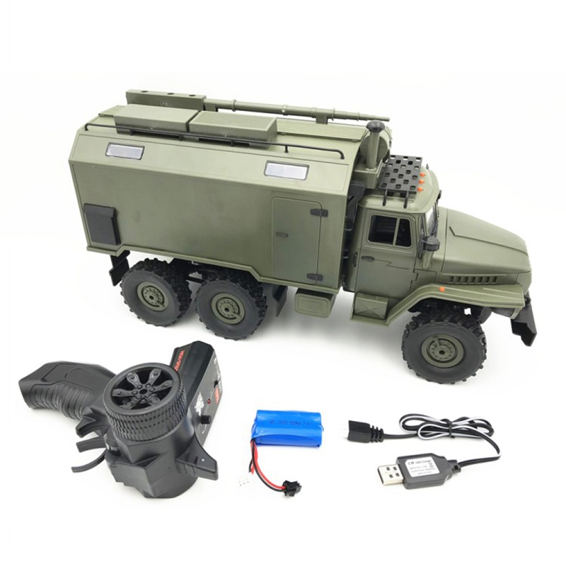 B36 Ural 1/16 2.4G 6WD RC Truck Car Rock Crawler Command Communication Vehicle RTR Toy Auto Trucks Boy Toys