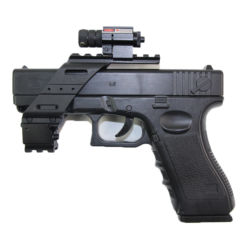 Tactical Pistol Airsoft Sight Track Rail Picatinny For Glock 17 19 Beretta M92 Universal Base Quad Red Laser Light Scope Mount