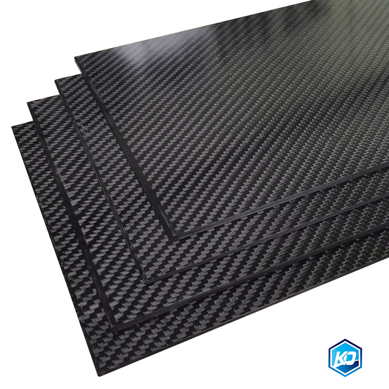 500x500mm Carbon Fiber Plate Twill Glossy Matte  0.25-5mm Thickness Real 3K Panel Sheets High Composite Hardness Material For RC
