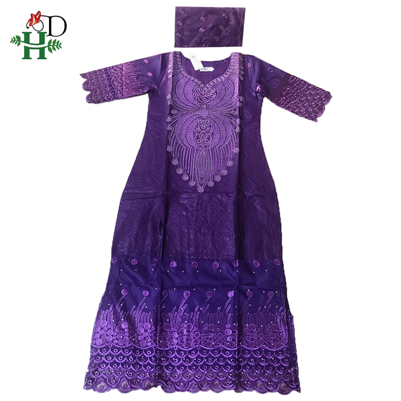 H&D African Dresses For Women 2019 New South Africa Clothes Lady Dashiki Maxi Dress Traditional Embroidered Wedding Dresses