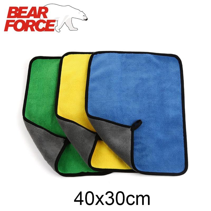 Microfiber Coral Fleece Velvet Car Cleaning Cloth Thick Plush Car Care Detailing Wax Polishing Towel Car Wash Drying Towel 40*30