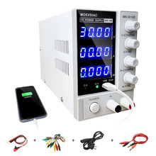 Fuente de alimentación Mini 3010D DC ajustable, 30V, 10A, 4 USB, Digital, Banco de laboratorio, regulador de voltaje, conmutación, fuente de alimentación de laboratorio