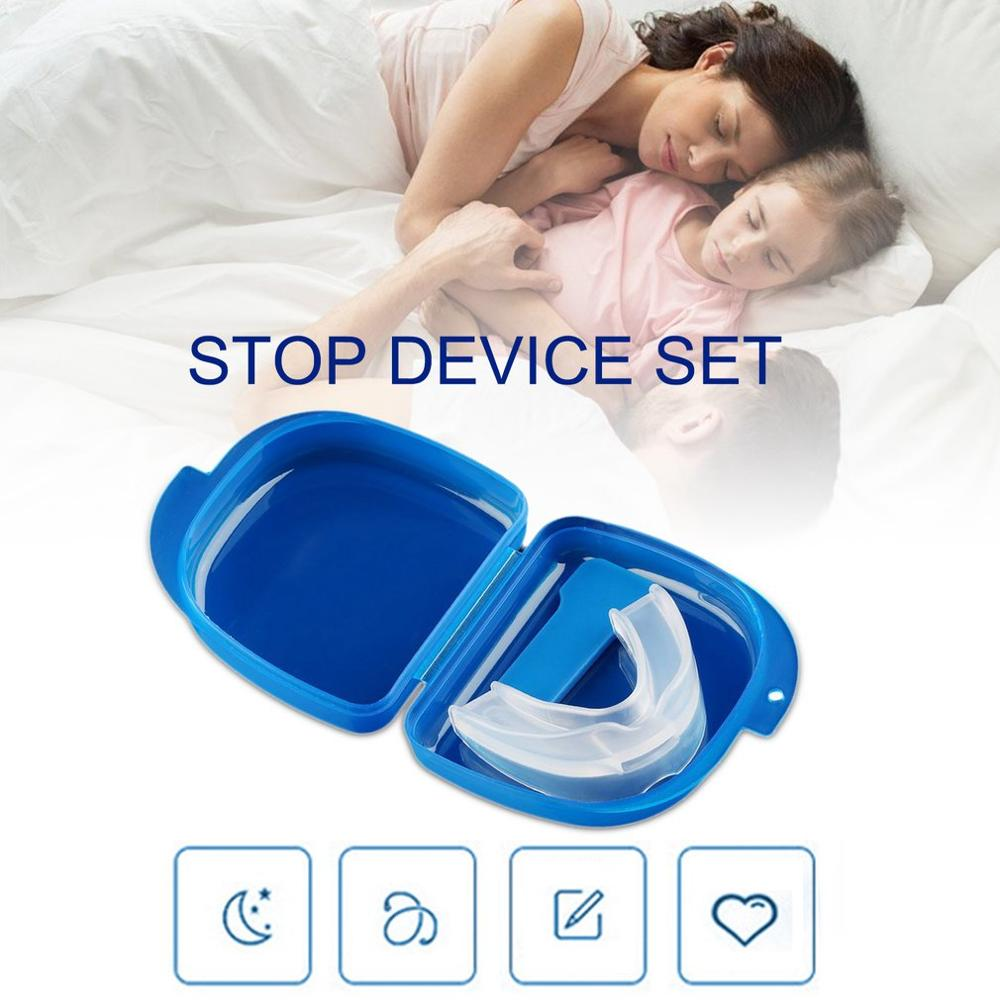 Mouth Guard Eliminates Snoring Health Care Stop Teeth Grinding Anti Snoring Bruxism With Case Box Sleep Aid  Drop Shipping