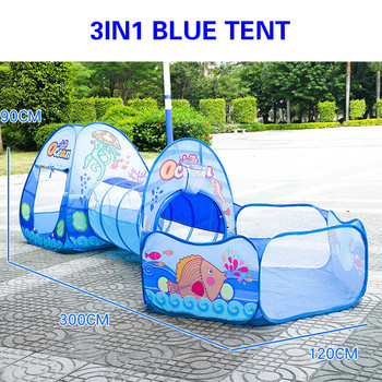 Toy Tent Children Tents Kids Crawling Tunnel Play Tent House Ball Pit Pool Tent for Children Toy Ball Pool Ocean Ball Holder Set 3 in 1 kids large pool tube teepee play tent ocean ball pool pit tent house for children foldable game playing house room gift