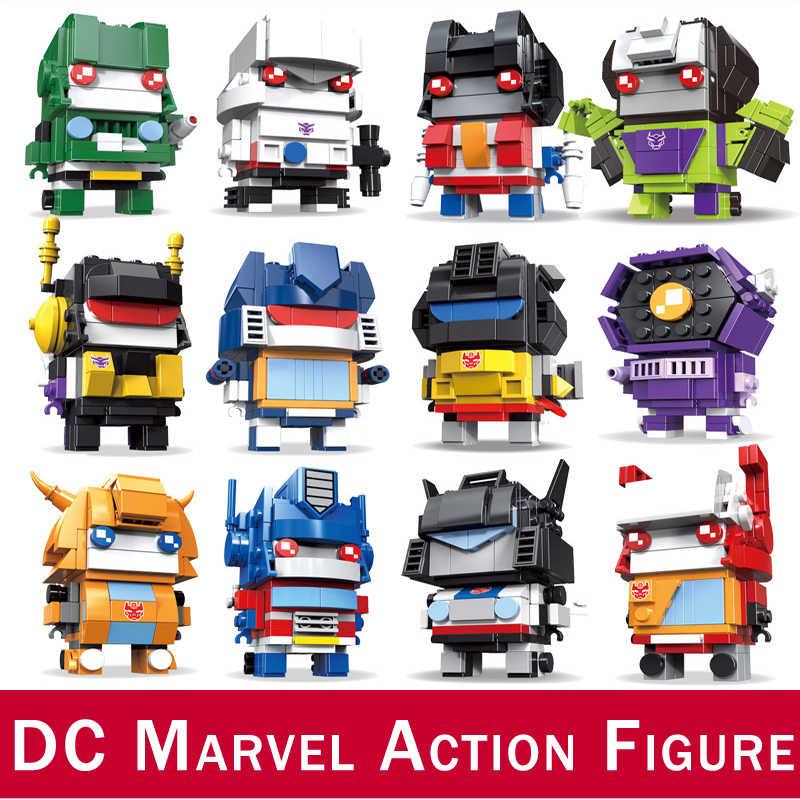 DC מארוול סופר גיבורי נוקמי תואם DIY בניית פעולה איור אבני בניין דרקון כדור ילדים צעצועי Brickheadz