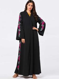 Turkey Arab Muslim Open Abaya Dress Women Jubah Jilbab Robe Maxi Abayas Islamic Clothing Vestidos Kimono Moroccan Kaftan Elbise