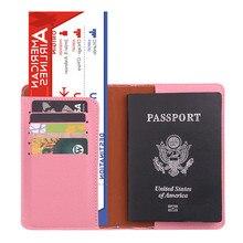 Fundas de pasaporte RFID Vintage para negocios, tarjetero multifunción para tarjetas de identificación, billetera de cuero PU para hombres y mujeres, accesorios de viaje