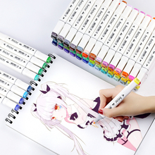 TOUCHCOOL 168 Color Marker Manga Drawing Sketch Marker Dual Head Alcohol Brush Markers Sketch Brush Pen Art Supplies for Artist 32pcs professional drawing artist kit pencils sketch charcoal art craft with carrying bag tools