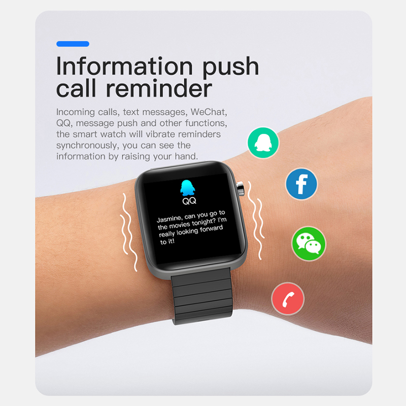 2020 NEW T68 Fashion Watch Men Body Temperature Measure Heart Rate Blood Pressure Oxygen Bracelet Call Reminder Watches For Men 5