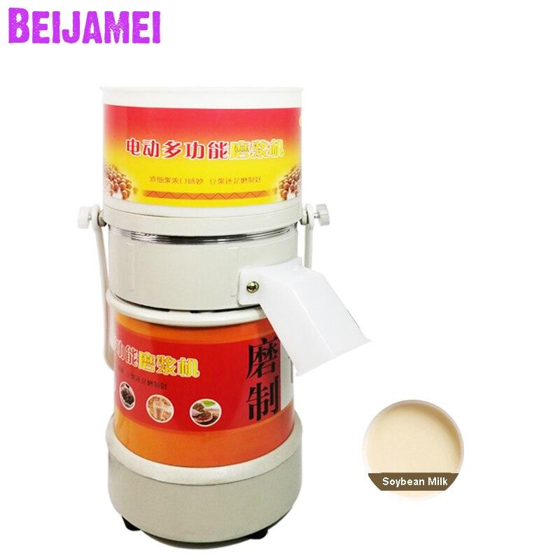 BEIJAMEI Electric Stone Milling Soybean Milk Machine Household Commercial Rice Milk Machine Sesame Paste Maker Peanut Butter