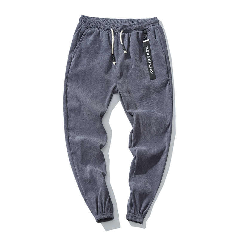 Pantalones informales para hombre, pantalones de chándal cálidos de pana, pantalones de correr a rayas para hombre, pantalones de gimnasia, ropa de talla grande M-5XL, pantalones de moda, recién llegados
