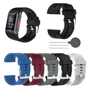 Image 1 - Siliconen Vervanging Polshorloge Band Voor Polar V800 Smart Armband Met Tool Smart Horloge Band Accessoires Voor Mannen Vrouwen 18.5cm