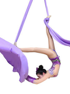 Aerial FITNESS Low-Stretch Carabiner Yoga-Swing Nylon for Flying-Dance And Swivel Silk-Set