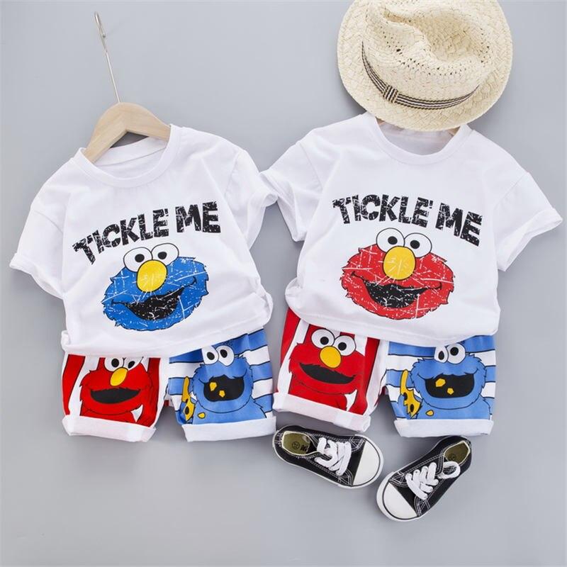 verao criancas do bebe meninos meninas roupas dos desenhos animados manga curta camiseta shorts 2 pcs