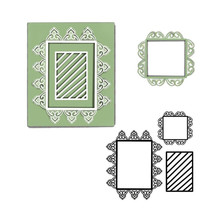 DiyArts Dies Lace Frame Metal Cutting Dies New 2019 for Scrapbooking Card Making Album Embossing Die Cut New Template diyarts lace bow metal cutting dies scrapbooking card making album embossing crafts die cut for new 2019 template stencil