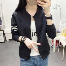Baseball Jacket Women 2019 Fall New Fashion Solid Casual Sweater Uniform Outdoor Sport Coat Outwear Windbreaker
