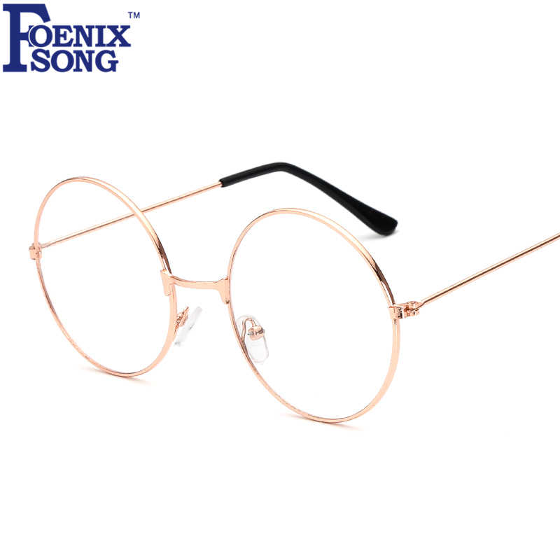FOENIXSONG Men Women Reading Glasses Gafas De Lectura Brand New Retro Eyewear Vintage Eyeglasses Black Gold Frame HH1861
