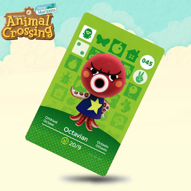 045 Octavian  Animal Crossing Card Amiibo Cards Work For Switch NS 3DS Games