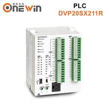 Novo e original plc dvp20sx211r 24vdc 8 (4ai) 6 (2ao) módulo de saída relé controlador lógico programável analógico