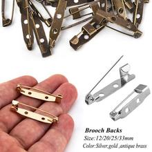 Accessory Iron-Needles Safety-Pin-Brooch Sewing-Tools Silver Antique Gold 50pc DIY 15/20/25/33mm
