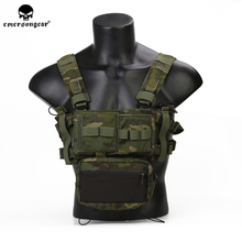 emersongear MK3 Tactical Chest Rig Micro Fight Modular Adjustable Hunting Plate Carrier Airsoft Vest with 556 762 Mag Pouch emersongear emerson double mag pouch for ss vest 556 762 magazine plate pouch airsoft hunting mag holder pouch multicam