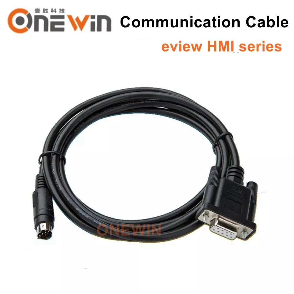 O tela táctil de eview hmi conecta a comunicação do cabo do programa do plc entre o plc e o hmi