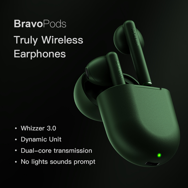 Original Whizzer B7 наушники TWS BravoPods Wireless in ear earphone Voice control Bluetooth 5.0 Noise reduction Tap Control 1