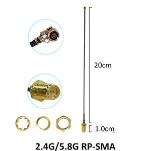 Image 3 - Антенна 8 дБи, 5 шт., 2,4 ГГц, 5 Гц, 5,8 ГГц, двухдиапазонный Коннектор с поддержкой Wi Fi, 2,4 ГГц, 5G, 5,8 ГГц, антенна с разъемом SMA «мама» + 21 см, кабель Pigtal