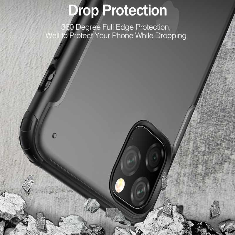 Funda de lujo YKZ a prueba de golpes para iPhone 11 Pro XS funda protectora máxima para iPhone X XS XR 7 8 Plus funda trasera dura mate ultradelgada