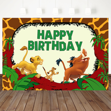 MOCSICKA Safari Animal Backdrop Jungle Little Lion Wild Boar Boy Birthday Banner Backgrounds Cake Table Decorations Props