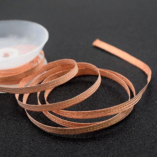 Dessoudage tresse soudure dissolvant mèche fil plomb cordon Flux BGA outil de réparation 1.5mm 2mm 2.5mm 3mm 3.5mm largeur 1.5M longueur