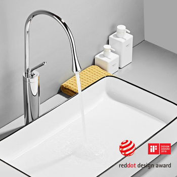 Modern Brushed Gold Basin Faucets Single Handle 360 Rotation Mixer Tap Washbasin Water Crane For Bathroom Vessel Sink Faucets 11