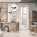 Бесшумные настенные часы с картой мира  12 дюймов  современный дизайн  кварцевый качающийся  Подвесные часы  украшение дома  настенные часы