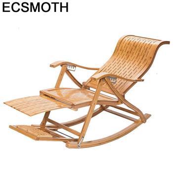 Arm Divani-sillón Reclinable mecedora de bambú, sillón Moderno Para Sala de estar