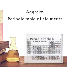 NewAcrylic Crystal Periodic Table Chemical Elements Ornament Home Desktop Decoration for Student Educational Bedroom