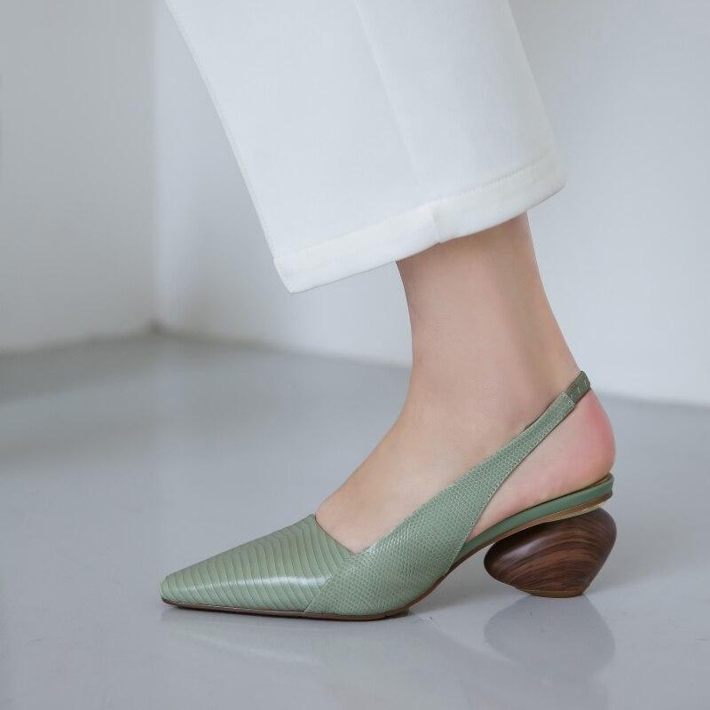 Женские босоножки; Кожаная обувь; Большие размеры 22 26,5 см; Сезон весна лето; Женская обувь из овечьей кожи на высоком каблуке 7 см; Женская обувь на танкетке Боссоножки и сандалии      АлиЭкспресс