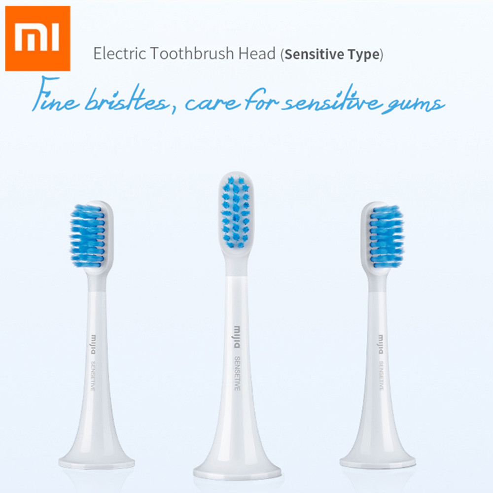 3Pcs 11 Mijia Sonic Electric Toothbrush Head For Sensitive Teeth Double-Tip Slender Soft Tooth Brush For 11 T500 / T300
