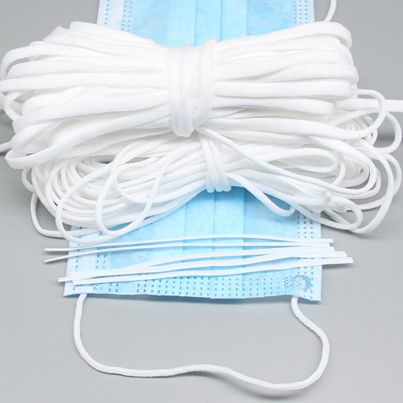 Mask Elastic Band Rubber Rope Ear Hanging Rope Nose Bridge Clips Adjustable Handmade DIY Elastic Sewing Mask Craft Accessories