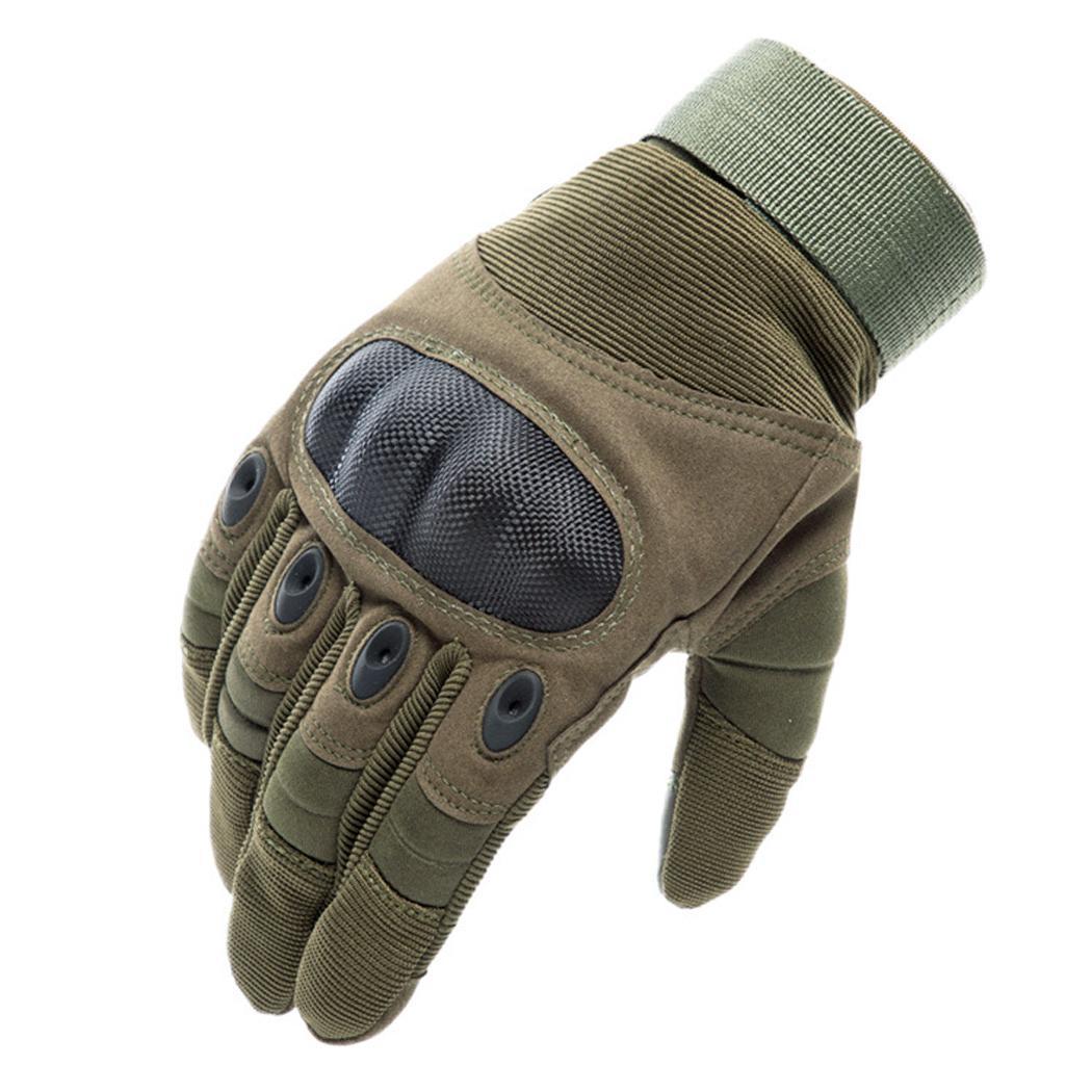 Мужские спортивные перчатки на открытом воздухе, дорожные коричневые/черные/зеленые Тактические перчатки варежки - Цвет: green